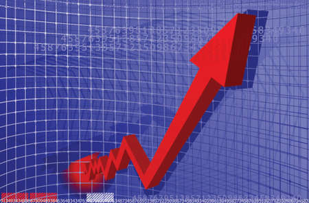 Red Arrow Chart Stock Vector - 1280257