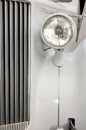 White Car Radiator And Light photo
