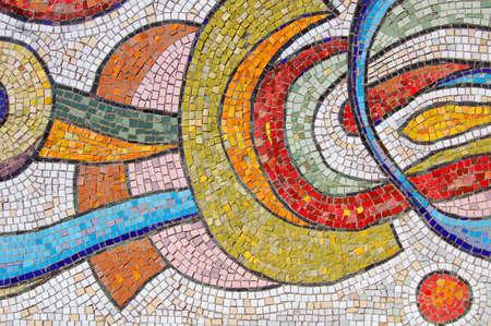 Mosaic on Stone Wall photo