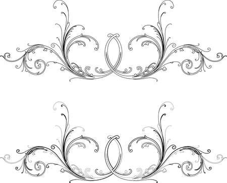 Barock zwei Stile: Traditionelle und Calligraphy.All Kurven getrennt.