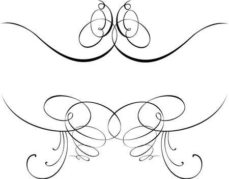 Kalligraphie Barock Kurven. Andere Kalligraphie im Portfolio.