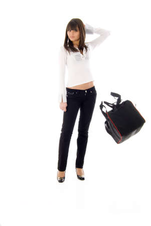 youngs: Fashion Girl and Flying Sport Bag