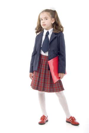 uniform skirt: Schoolgirl With Red Folder