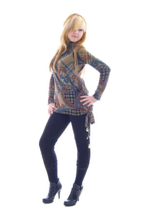 Posing Blonde Girl Stock Photo - 5136988