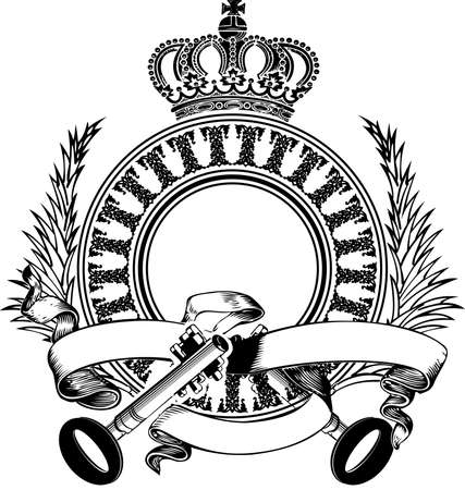 Two Key Heraldry Composition.