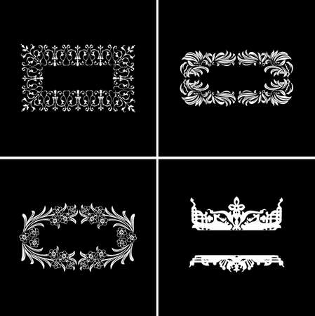 Four Decorative Vintage Ornate Banners. Vector Illustration. Stock Vector - 6169450