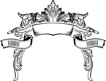 Antique Half Frame Engraving, Scalable And Editable Vector Illustration Stock Vector - 8336505