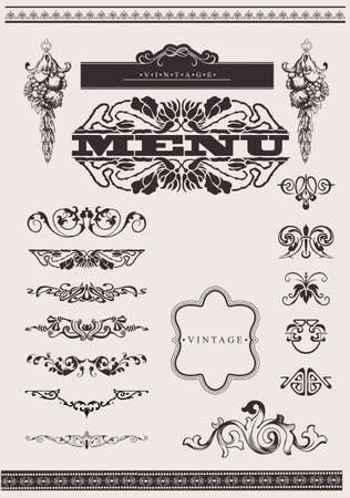 Design Ornate Elements And Page Decoration.  Vectores