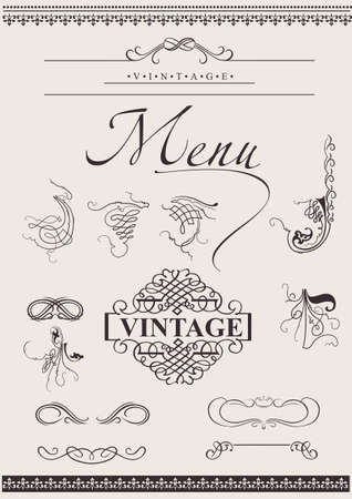 Set: Calligraphic Design Elements For Page Decoration Stock Vector - 8878222