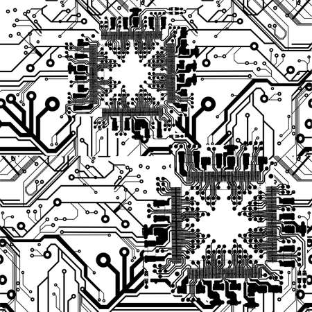 One Color Printed Circuit Board Pattern Stock Vector - 8878255