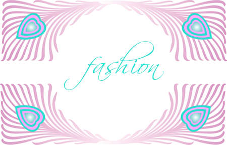 Fashion Glamour Beautiful Peacock Feather Vector Design Vector