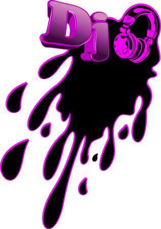 Abstract Music DJ Splash. Flayer Design Element. Stock Photo - 9902673
