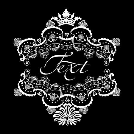 One Color Ornate Quad Text Banner Vectores