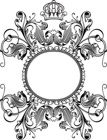 Une bannière de courbes de couleur Royal Crown Vintage