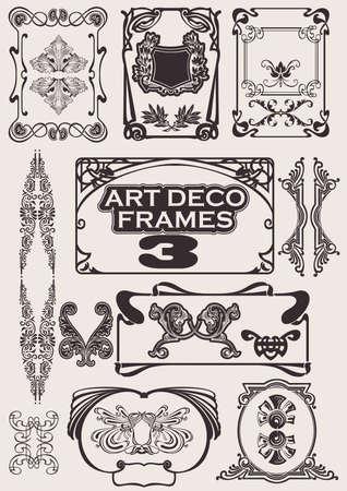 Set Of Art Deco Frames. Altri in portafoglio. Vettoriali