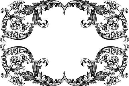 Vector Antique Vintage Frame. Isolated On White For Design.