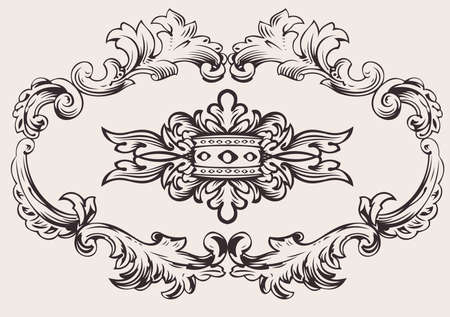 Royal Frame Decoration Vector Vektorové ilustrace