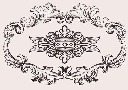 Royal Frame Decoration Vector Vectores