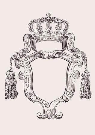 Een Color Crown Insignia Geïsoleerde