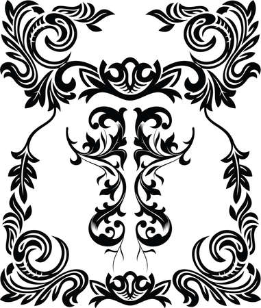 vintage ornamental frame Vectores