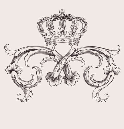 Eine Farbe Royal Crown Weinlesekurven Banner