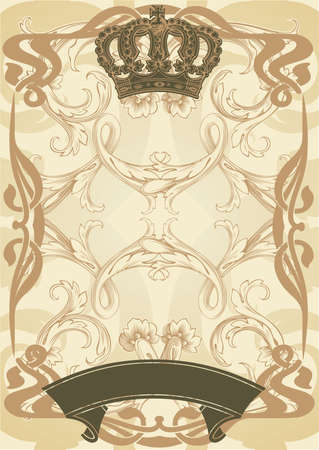 Illustration royal background and banner Stock Vector - 13635114