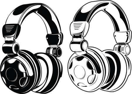 Headphones  One Color Drawings