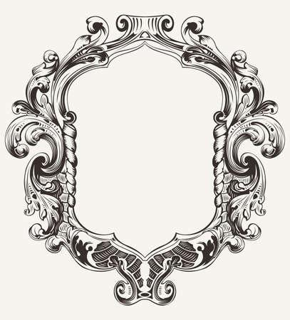 Vintage Hoge Sierlijke Original Royal Frame Vector Illustratie
