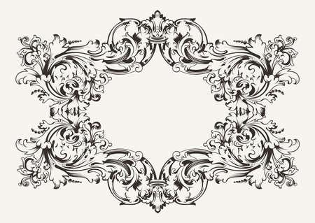 Old Antique High Ornate Frame