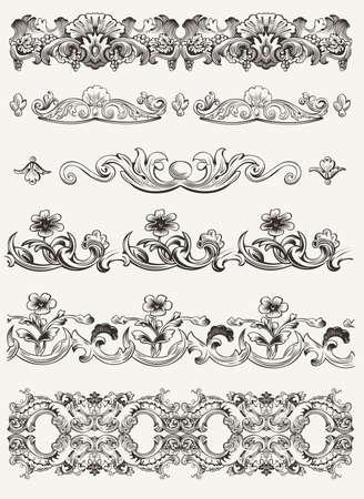 Set Of Original Vintage kalligrafische ontwerpelementen