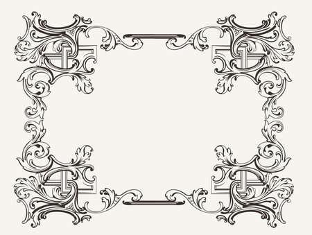 Original Renaissance Ornate Frame  Ilustração