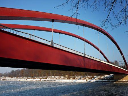 Modern suspension bridge photo