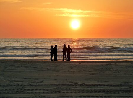 evening at the sea photo