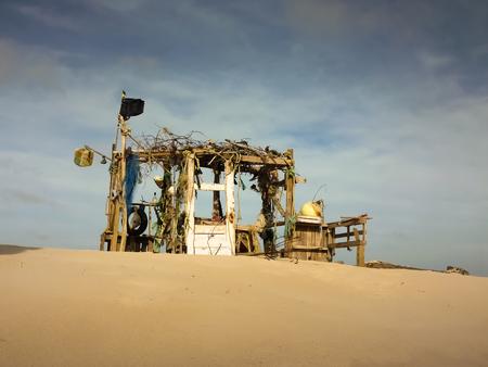 barrack: Beach hut Stock Photo