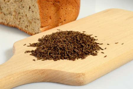caraway: Caraway on a wooden board