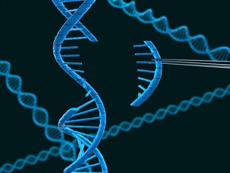 modificaci�n: Vista microsc�pica de ADN modificaci�n - computada gr�ficos Foto de archivo