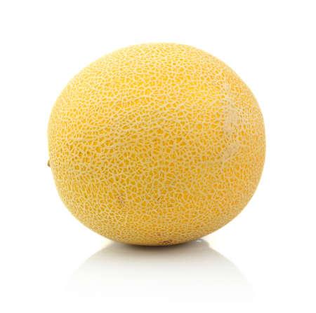Studio shot of whole ripe melon called galia isolated on white background Stock Photo