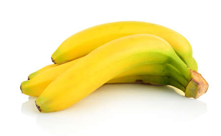 bannana: Bunch of few bananas on white background