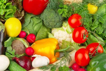 Dietetic set of paleo diet of various vegetables photo