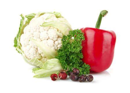 nutrientes: Grupo de los nutrientes llenas de vitamina C en el fondo blanco