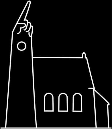 steeple: Steeple pointing to heaven Illustration