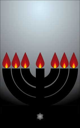 candles the menorah Vector