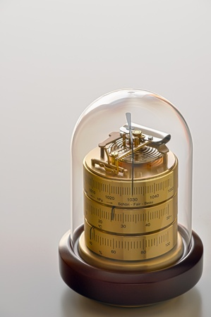 aneroid: The barometer shows good weather Stock Photo