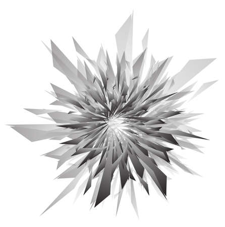 broken glass: 3d abstract explosion template