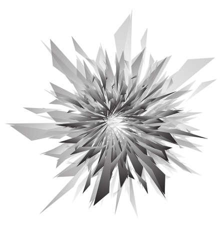 explosie: 3d abstracte explosie sjabloon Stock Illustratie