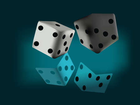 Dice vector illustration  Stock Vector - 16906272