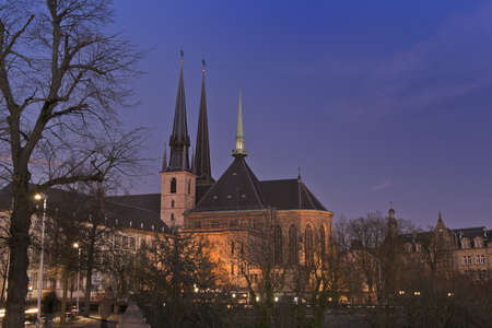 cathedrale: Cathedrale Luxembourg Stock Photo