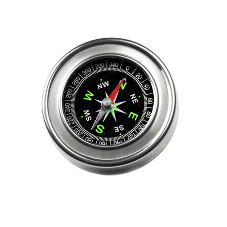 azimuth: Compass isolated on white
