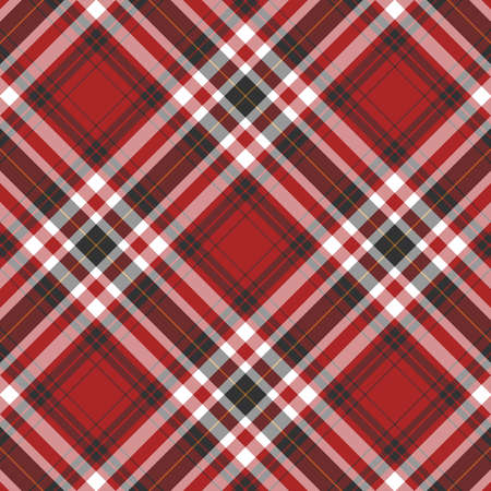 red plaid: Black, red and white plaid background Stock Photo