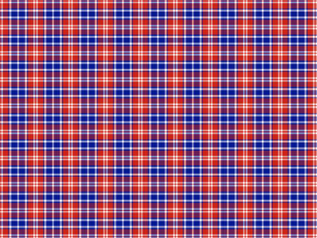 Red, blue and white plaid background